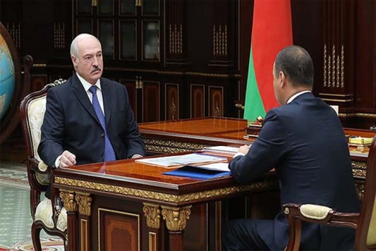 President Aleksander Lukashenko heard out a report of Roman Golovchenko, the Chairman of the State Authority for Military Industry of the Republic of Belarus on September 23, 2019