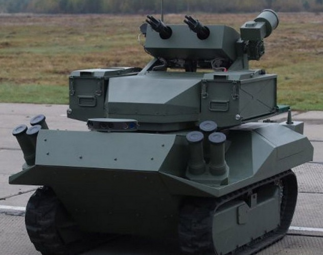 """Self-propelled Robotized System """"Berserk"""" – participant of three parades"""